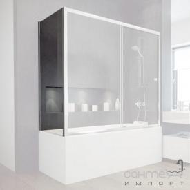 Шторка для ванны боковая Besco Duo Slide II 70x150 закаленное прозрачное стекло