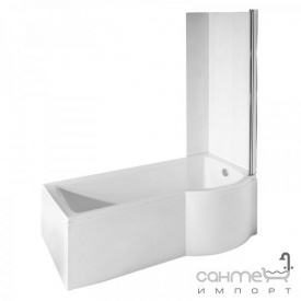 Шторка для ванны Besco Inspiro закаленное стекло прозрачное правая