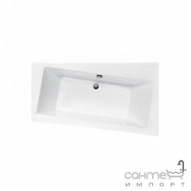 Асимметричная ванна Besco PMD Piramida Infinity 170x110 белая правая