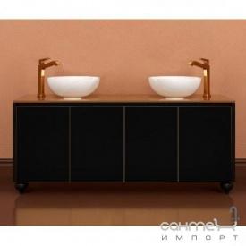 Підлогова Тумба для ванної кімнати 1200 без раковини Marsan Penelope чорний