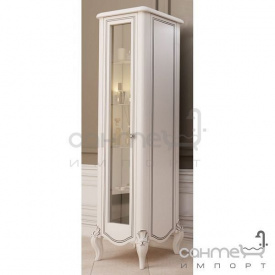 Пенал підлоговий правий Marsan Melissa білий декор хром фурнітура хром