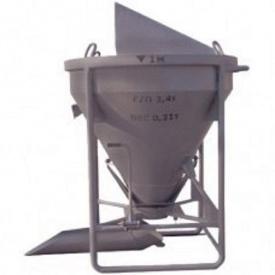 Бункер туфелька конусный БП 1,5 м3 1630х1530х2200 мм