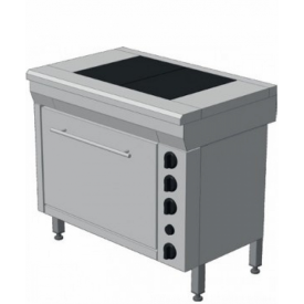 Плита електрическая промышленная с жарочным шкафом ЭПК-2Ш эталон 950x600x850 мм