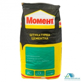 "Штукатурка цементная Момент ""Момент"" 25 кг"