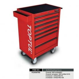 Тележка для инструмента TCAA0702 TOPTUL 7 секций красная