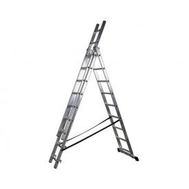 Трехсекционная лестница VIRASTAR DW 3 PROFI LIGHT 3x9 ступеней