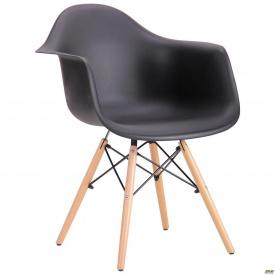 Пластикове крісло-стілець AMF Salex PL 810х630х620 мм Wood чорний