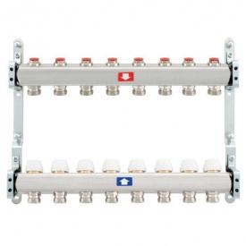 Коллектор для теплого пола Itap 1x3/4 на 8 выходов без расходомеров