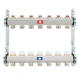 Коллектор для теплого пола Itap 1x3/4 на 7 выходов без расходомеров