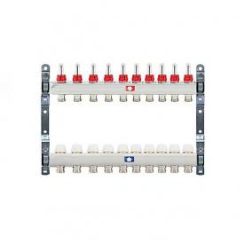 Коллектор для теплого пола Itap 1x3/4 на 10 выходов с расходомерами