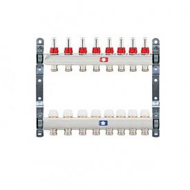 Коллектор для теплого пола Itap 1x3/4 на 8 выходов с расходомерами