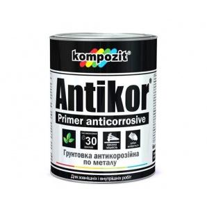 Ґрунтовка антикорозионная KOMPOZIT Antikor світло-сіра 1 кг