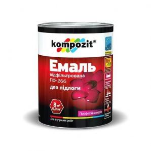 Емаль для підлоги KOMPOZIT ПФ - 266 червоно-коричнева 0,9 кг