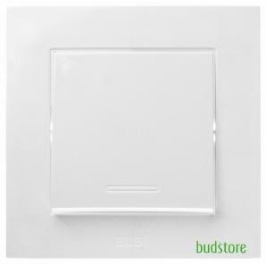 Вимикач одноклавішний EL-BI Neo білий 513-000200-200