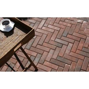 Тротуарна плитка Золотий Мандарин Цегла вузька 210х70х60 мм коричнева