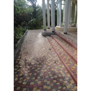Тротуарна плитка Золотий Мандарин Креатив 60х85х65 мм червона