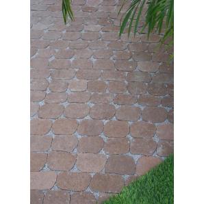 Тротуарна плитка Золотий Мандарин Маргарита 60х137х100 мм коричнева