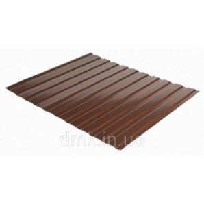 Профнастил фасадний С-10 0,45 МАТ коричневий (RAL 8017)