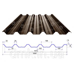 Профнастил Сталекс ПН-44 0,70 PE RAL 8017 (Optima Steel)