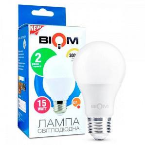 Світлодіодна лампа BIOM BT-515 А65 15W E27 3000K Груша