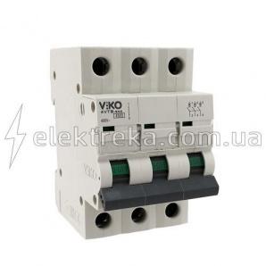 Автоматичний вимикач VIKO 3P 16A 4,5 кА 230/400В тип С