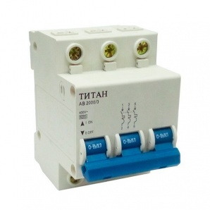 Автоматичний вимикач ТИТАН 3P 63A 6кА 230/400В тип С