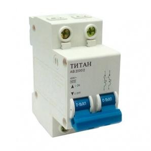 Автоматичний вимикач ТИТАН 2P 6A 6кА 230/400В тип С