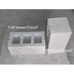 Бетонный блок ЭКО-Плитка 390х190х190 мм