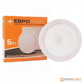 Світильник точковий накладної ЕВРОСВЕТ 6 Вт LED-SR-120-6 6400 К коло