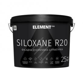 Фасадная декоративная штукатурка SILOXANE R20 база LAP ELEMENT PRO 25 кг белый