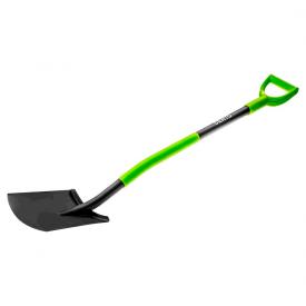 Лопата VERTO металлическая ручка с держателем 15G011
