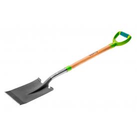 Лопата VERTO прямая деревянная ручка 15G002
