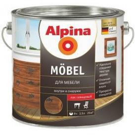 Лак мебельный Alpina Aqua Möbel глянцевий 2,5 л