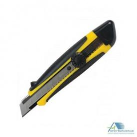 Нож универсальный резиновые вставки вращающийся фиксатор в блистере 25 мм 69963
