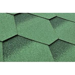 Битумная черепица Matizol Hexagon SBS 3D зеленая