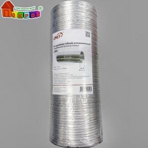 Воздухопровод алюминиевый гофрированный 80 мкм D 120 мм 3 м 12BA