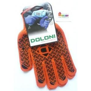 Перчатки TM DOLONI рабочие трикотаж с ПВХ рисунком универсал 11
