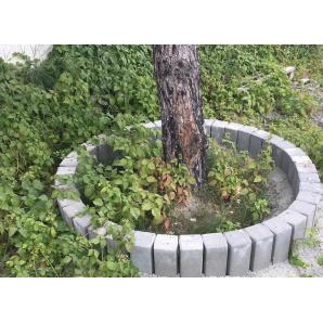Бордюр тротуарный Палисадник садовой 350х120х120 мм серый