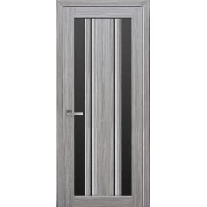 Дверное полотно Новый стиль Итальяно ВЕРОНА С2 жемчуг серебряный стекло черное 700 мм SmartCover