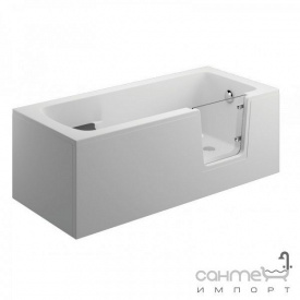 Акрилова ванна зі скляною вставкою Polimat Avo 170x75 00877 біла з передньої 00890 і бічною панеллю 00891