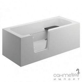 Акрилова ванна зі скляною вставкою Polimat Vovo 180x75 00016 біла з передньої 00042 і бічною панеллю 00048