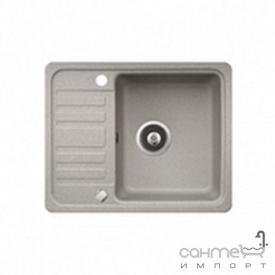 Кухонна мийка гранітна Adamant Small 570х455х180 крило ліворуч 04 сірий