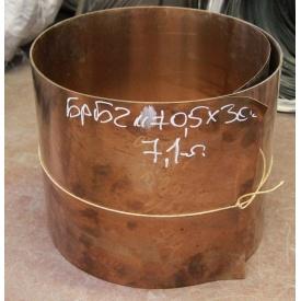 Бронзовая лента БрБ2 0,1х250 мм