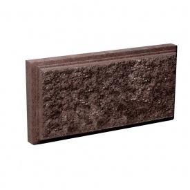Блок Західтрансбуд Колотый камень облицовочный 95х190х90 мм коричневый