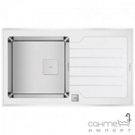 Кухонная мойка Teka Diamond 1B 1D 86 115100012 белое стекло