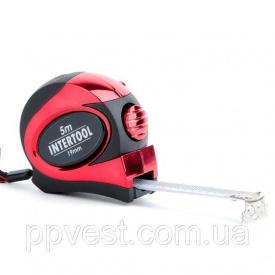 Рулетка 5м с автоматической блокировкой полотна INTERTOOL MT-0805