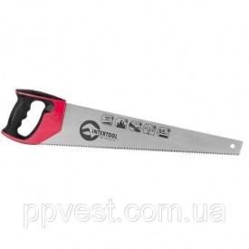 Ножовка по дереву с каленым зубом INTERTOOL HT-3106