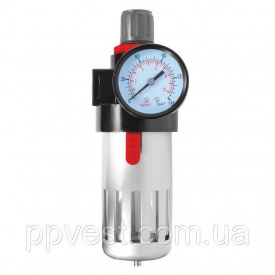 Фильтр очистки воздуха + редуктор в металле INTERTOOL PT-1410