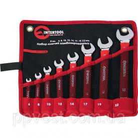 Набор комбинированных ключей в чeхле PROF DIN3113 INTERTOOL XT-1508