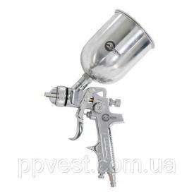 Краскопульт пневматический HVLP верхний металлический бачок INTERTOOL PT-0109